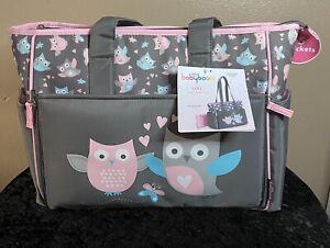 Baby Boom Owl Drop Front Tote Diaper Bag
