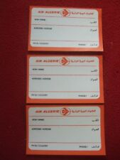 AIRLINE BAGGAGE STICKERS X 3 AIR ALGERIE 1980'S / 90'S VINTAGE