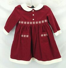 Gymboree Red Corduroy Snowflake Dress Holiday Christmas Baby Girl 18-24 Month