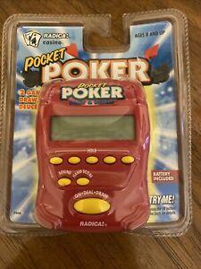 New! Radica POCKET POKER Draw and Deuces Electronic Handheld Game 1997Deadstock