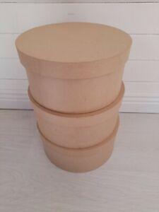 Décopatch BTS907C Hat Boxes, 3 pack, Brown, 330*320*310/150 cm storage New