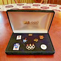 Vintage 1992 Barcelona & Albertville Olympic games – 8 pins set in Original case