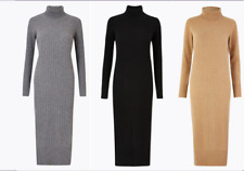 M&S AUTOGRAPH  Pure Cashmere Ribbed Knitted Dress PRP £149