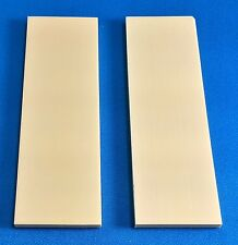 "2 Ivory Juma .125"" Knife Handle Material Blank Scales 6"" x 2"" x 1/8"""