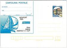 47499 - ITALIA REPUBBLICA -  INTERO POSTALE cat Filagrano # Z5 AMERICA'S CUP!