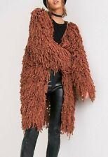 KNITTING PATTERN Ladies loopy loop knit jacket cardigan chunky S-M-L shaggy (429