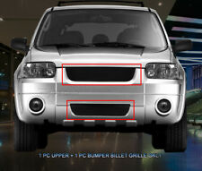 Fits 2005-2007 Ford Escape Black Billet Grille Grill Combo