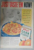 Kellogg's Cereal Ad: Peaches and Corn Flakes ! 1939 Size: 11 x 15 inches