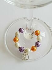 30th Wine Glass Charm,Special Birthday Gift, Anniversary Gift, Birthday Keepsake