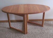 Compact FOLDING END & COFFEE TABLE Ash Hardwood Light Oak RV Boat Home USA