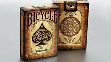 Bicycle old Parchment Playing Cards poker juego de naipes