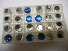 8 swarovski crystal 3/4 flatback disco balls,14mm bermuda blue Z #4869