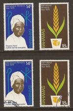 BAHAMAS 1975 SG449/450 International Women's Year Set MNH & Fine Used (JB9391)