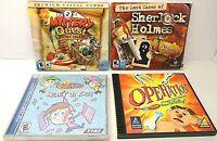 Lot of 4 PC CD-ROM Breakin' Da Rules, Operation, Mystery Quest, Sherlock Holmes