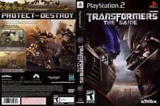 Transformers the Game PlayStation 2 PS2 The Movie Game COMPLETE CIB BLACK LABEL