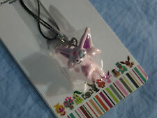 2009 Pokemon CENTER Time ESPEON Charm FIGURE Strap FROM Japan RARE!