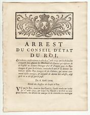 1770 French Royal act, concerning gold and silver works for Colonies Wroth 1809