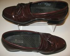 Mens SZ 8 Bostonian Classics Leather Slip On Dress Shoes Loafer Tassles Made USA