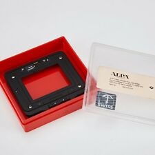 ALPA hasselblad H 645 mount adapter Mint (phase one Leaf digital back used)