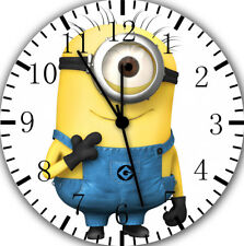 Cute Funny Minions Frameless Borderless Wall Clock For Gifts or Home Decor E47