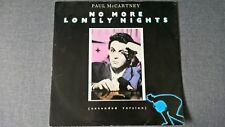 PAUL McCARTNEY - NO MORE LONELY NIGHTS .     12''Vinyl SP.