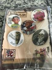 Jeff Dunham Pinbacks Buttons Lot of 5 Walter for President