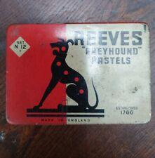 Vintage Artist Reeves Greyhound original tin with Pastels