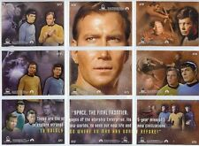 Star Trek TOS Quotable Space The Final Frontier Chase Set - Full 9 Card Set