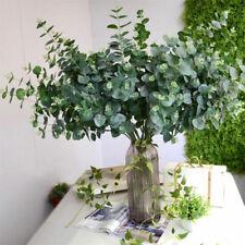 Artificial Fake Silk Leaf Eucalyptus Plastic Green Plant Garland Home Decoration