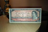 1954 $2 Dollar Bank of Canada Banknote YR6000771