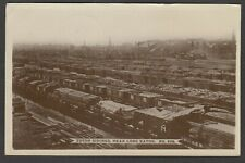 Postcard Long Eaton nr Derby the Toton Sidings railway trucks trains 1917 WW1 RP
