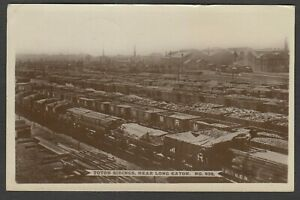 Postcard Long Eaton nr Derby the Toton Sidings railway trucks trains 1917 WW1 RP