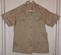 VINTAGE Military US Army Khaki Uniform Shirt Short Sleeves 1950s No Insignia GUC