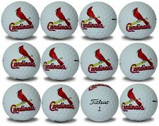 St Louis Cardinals Titleist ProV1 Refinished MLB Golf Balls 12 pack
