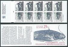 1991 SVEZIA LIBRETTO PESCI D'ACQUA DOLCE MNH ** - A1