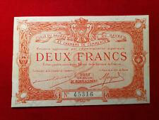 Billet 2 Fr VILLE DU HAVRE Chambre de Commerce FA 1917 R1 !!