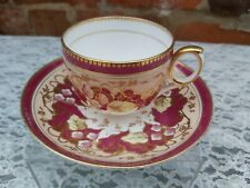 Antique  Coalport floral & gilt cup and saucer