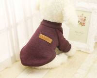 Fall Winter Puppy Dog Sweater Warm Knitted Clothes Apparel For Small Medium Pet