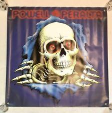 Powell Peralta banner flag Bones Sk8 old school skate SantaCruz Dogtown