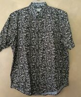 Casual Floral Cotton Hawaiian  Print Shirt By Crossings size medium