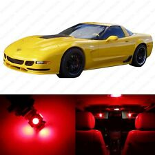 10 x Red LED Interior Light Package For 1997 - 2004 Chevy Corvette C5 + PRY TOOL