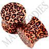 0192 Double Flare Acrylic Leopard Cheetah Print Saddle Ear Plugs 00G Gauge 10mm