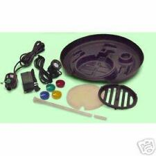 """PonDeal Complete Water Garden Pond Kit, Tray Pump Light Filter 17"""" Fountain Head"""