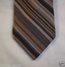 Giorgio Vianni NEW Men's Silk Necktie Brown Stripe