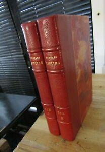 RUDYARD KIPLING -KIM -COMPLET en 2 VOLUMES-Relié chagrin-1937-LITTERATURE