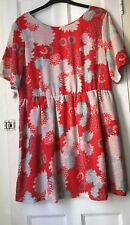Asos Alice And You Dress Bright Floral UK 20 Fit And Flare Summer Plus Size