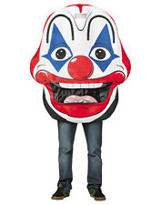 Clown Head Open Close Mouth Adult One Piece Halloween Costume-Os
