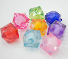 10 Perles Acrilique Cube 12mm facette perle 12 mm creation bijoux, collier