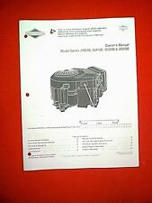 BRIGGS & STRATTON 16 HP V TWIN ENGINE 290700 294700 303700 350700 OWNER'S MANUAL