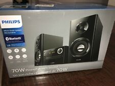 Philips BTM2180/37 Micro Music System W/ Wireless Bluetooth Streaming, Black~NEW
